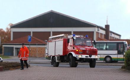 Rüstwagen der Ortsfeuerwehr Schellerten nach einer Übung auf der Rückkehr zum Heimatort Foto (c) Witte / Gemeinde Schellerten
