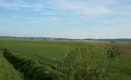 Blick über die Bördelandschaft mit den Ortschaften Dinklar, Ottbergen, Wendhausen und Farmsen