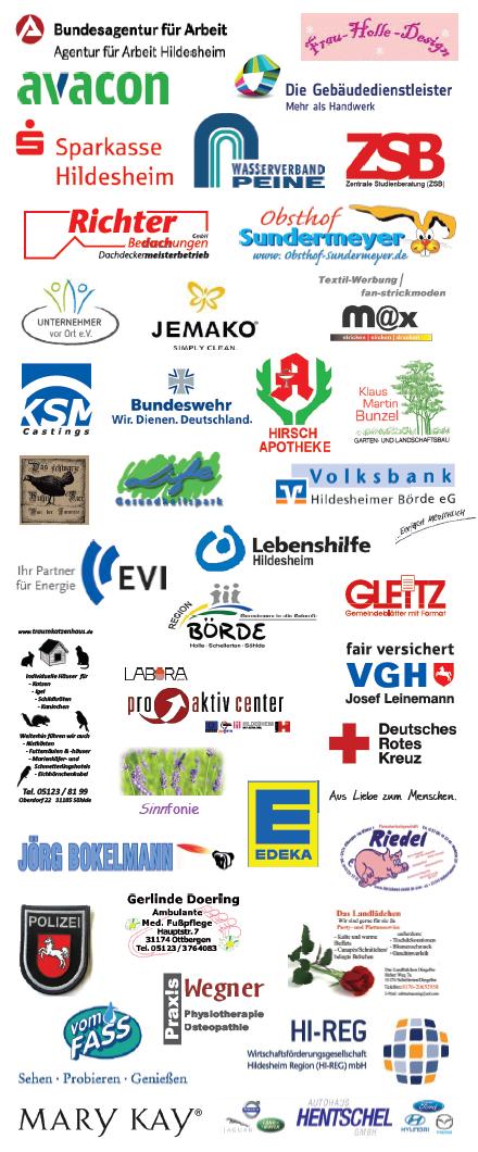 Teilnehmende Firmen und Verbände an der Gewerbeschau am 30.03.2014 in der Richard-von-Weizsäcker-Schule Ottbergen