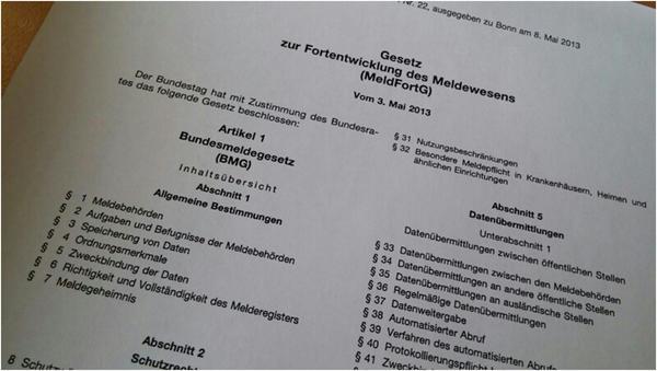 Am 01.11.2015 tritt das neue Bundesmeldegesetz in Kraft. Foto (c) Niemeyer / Gemeinde Schellerten