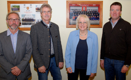 Der neue Ortsrat mit Ortsbürgermeister Armin Witte, seinem Stellvertreter Thomas Trenckmann, Inge Peine und Benjamin Hupe (von links). Foto: Wiechens