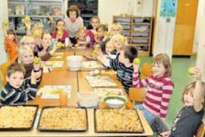 Apfeltag in der Grundschule Ottbergen