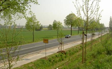 Die Ortsdurchfahrt der Bundesstraße 1 in der Ortschaft Schellerten soll ab 04.07.2011 saniert werden (Foto: Lindinger)