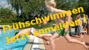 Fr�hschwimmen Jetzt anmelden Logo
